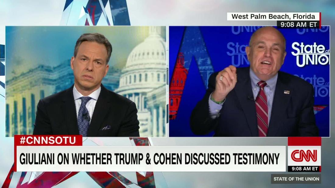 The 19 most truth-stretching lines from Rudy Giuliani's interview with Jake Tapper