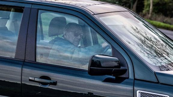 The Duke of Edinburgh was warned by police after being spotted driving without a seat belt after crashing his car earlier in the week at Sandringham.