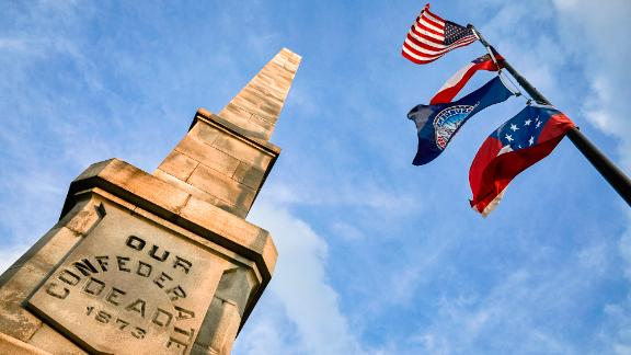 A monument in Oakland Cemetery honors Confederate soldiers.