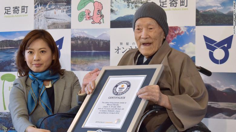 Image result for World's oldest man dies in Japan at age 113