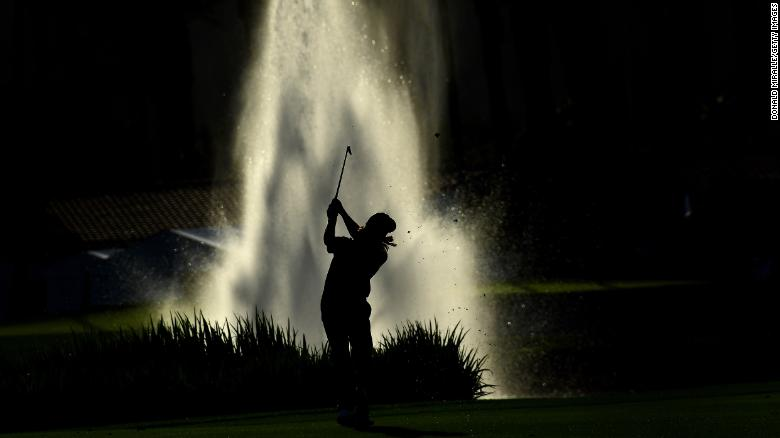 Sebastian Muñoz of Colombia hits off the 18th fairway during the second round of the Desert Classic at La Quinta Country Club on Friday, January 18 in La Quinta, California.
