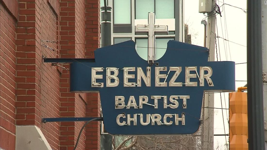 <strong>Historic Ebenezer Baptist Church (Atlanta): </strong>This is a sign to sacred ground in Atlanta and for the civil rights movement.