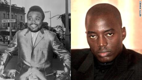 Laurent Kabila (left) and his son Joseph Kabila (right).