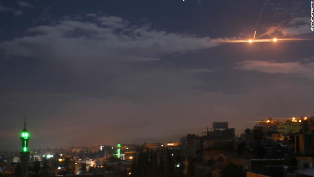 Israel strikes Iranian targets in Damascus after missile fired at Golan Heights