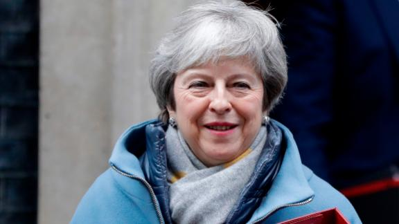 Britain's Prime Minister Theresa May leaves Downing Street to attend parliament in London, Monday, Jan. 21, 2019. Prime Minister Theresa May is set to unveil her new plan to break Britain's Brexit deadlock — and it's expected to look a lot like the old plan decisively rejected by Parliament last week. (AP Photo/Kirsty Wigglesworth)