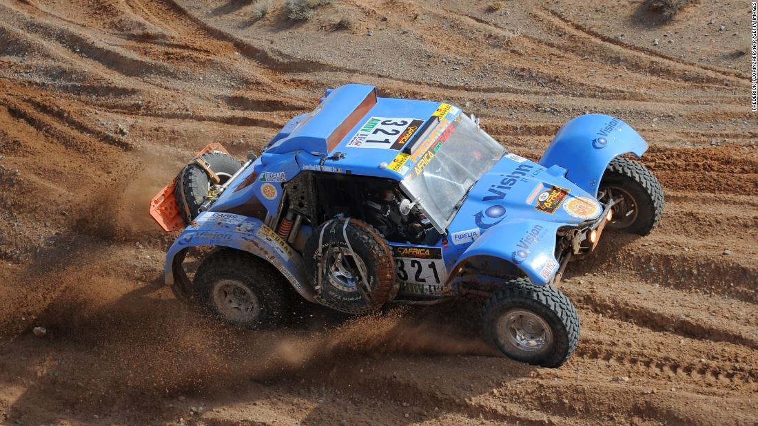 One of the 80 Day Race backers is former Dakar race director Hubert Auriol, who is pictured driving his Predator during the second stage Borj Bel Freissat to El Mdouara in the third edition of the Africa Eco Race on December 30, 2010.
