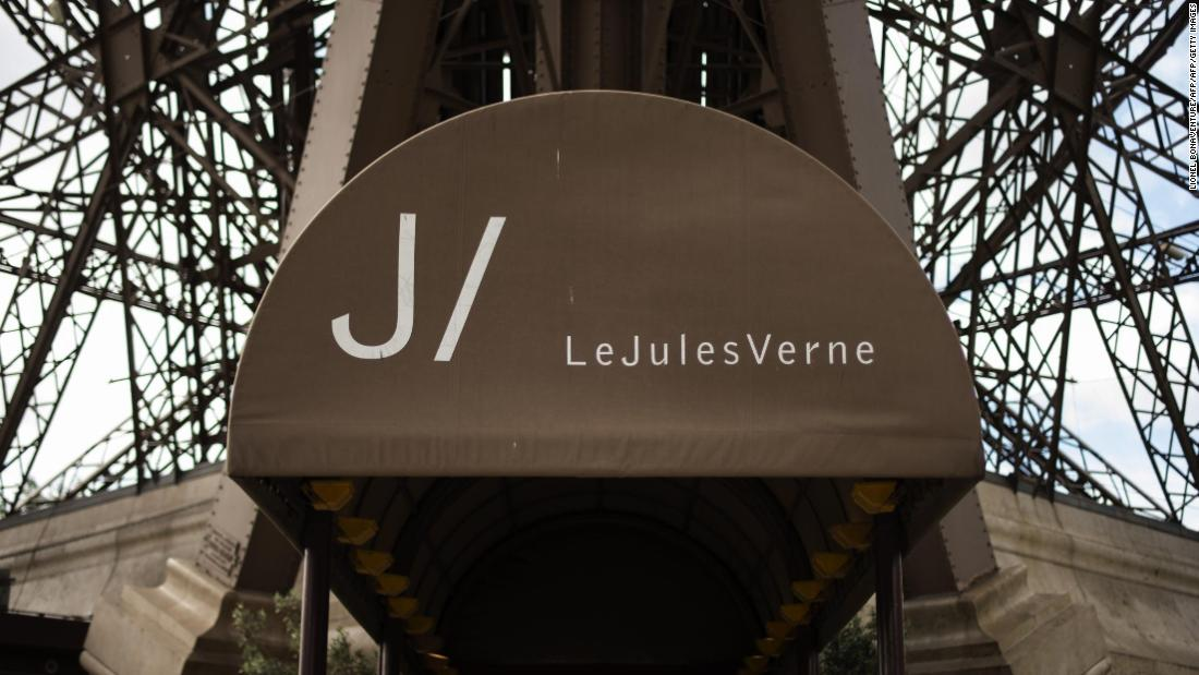 "Alain Ducasse's ""Le Jules Verne"" restaurant is based at the Eiffel Tower in Paris."