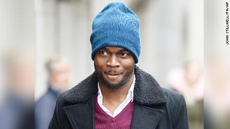 Sam Sodje arrived at the Old Bailey, London on December 12, 2016 where he faced charges of fraudulent trading in relation to running of the Sodje Sports Foundation.