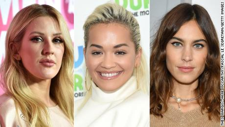 Ellie Goulding, Rita Ora, Alexa Chung (left to right) were among the celebrities who promised to alter their posts.