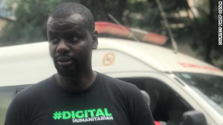 Philip Ogola helped create a group chat during the Kenya  terror attack last week.