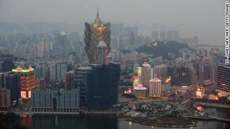 This general view from the Macau Tower shows casinos in the central district Macau in this file photo from 2009