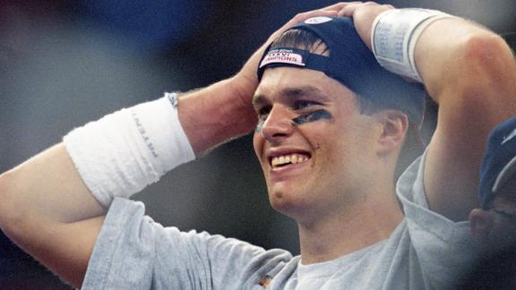 At age 24, Brady won Super Bowl MVP -- the first of four in his illustrious career.