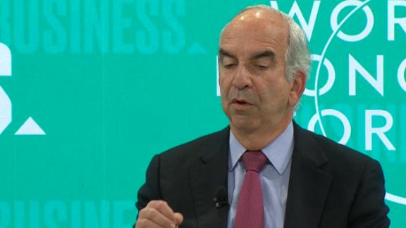 Hess Corporation CEO John Hess at a CNN Business panel at Davos, Switzerland