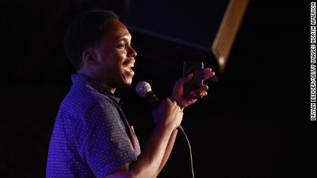 Brooklyn Ny May 31 Comedian Kevin Barnett Performs Onstage At The Vulture Festival
