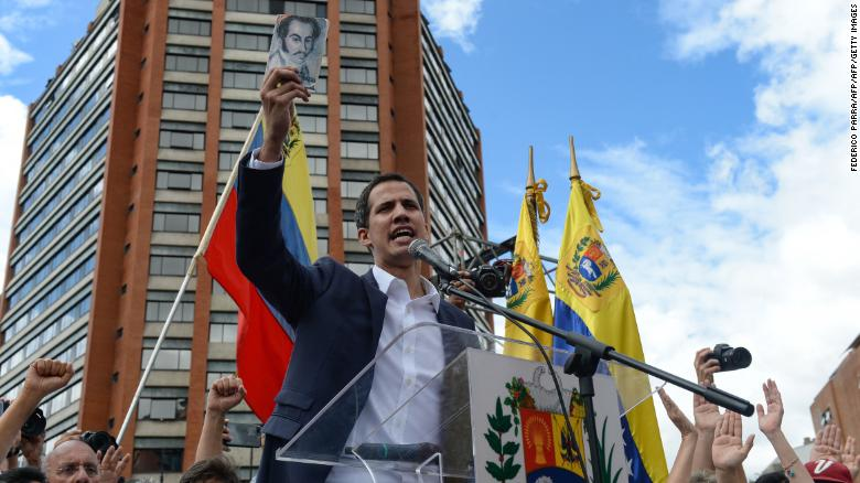National Assembly President Juan Guaido declared himself the country's acting leader on Wednesday.