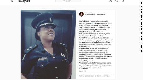 Police official Dolapo Badmos warns on gay people to leave Nigeria or face prosecution
