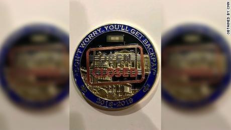 Secret Service members create shutdown challenge coin