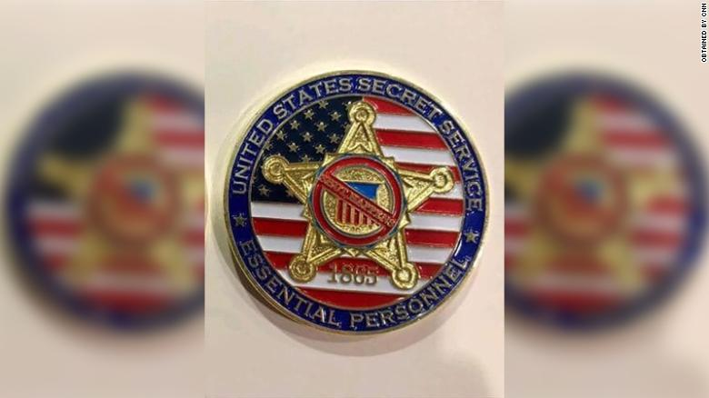 Special challenge coins being distributed among Secret