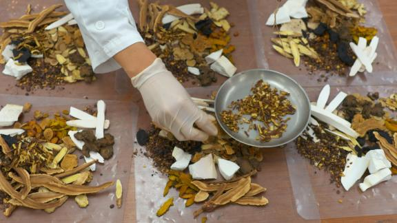 Selection of traditional Chinese medicines in their raw form.