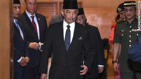Then-Prince Regent Tengku Abdullah Sultan Ahmad Shah pictured in early January 2019.