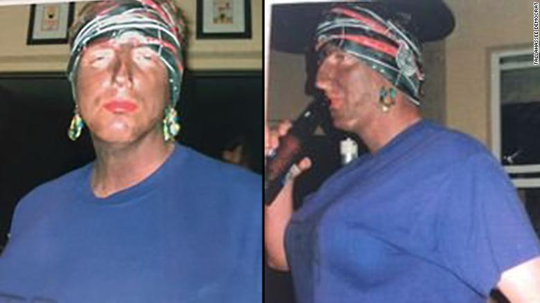 Images provided by the Tallahassee Democrat show Florida Secretary of State Michael Ertel in black face.