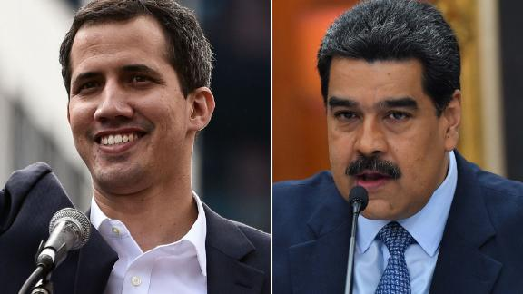Juan Guaido, left, and Nicolas Maduro are locked in a power struggle.
