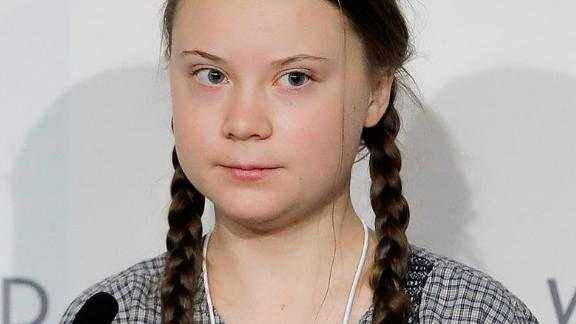 Climate activist Greta Thunberg attend a session of the World Economic Forum in Davos, Switzerland, Friday, Jan. 25, 2019. (AP Photo/Markus Schreiber)