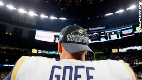 Goff, now 24, was 7 years old when Tom Brady won his first Super Bowl.