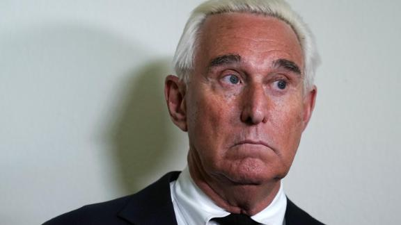 WASHINGTON, DC - DECEMBER 11:  Longtime informal adviser to President Trump Roger Stone speaks to cameras outside a hearing where Google CEO Sundar Pichai testified before the House Judiciary Committee at the Rayburn House Office Building on December 11, 2018 in Washington, DC. The committee held a hearing on 'Transparency