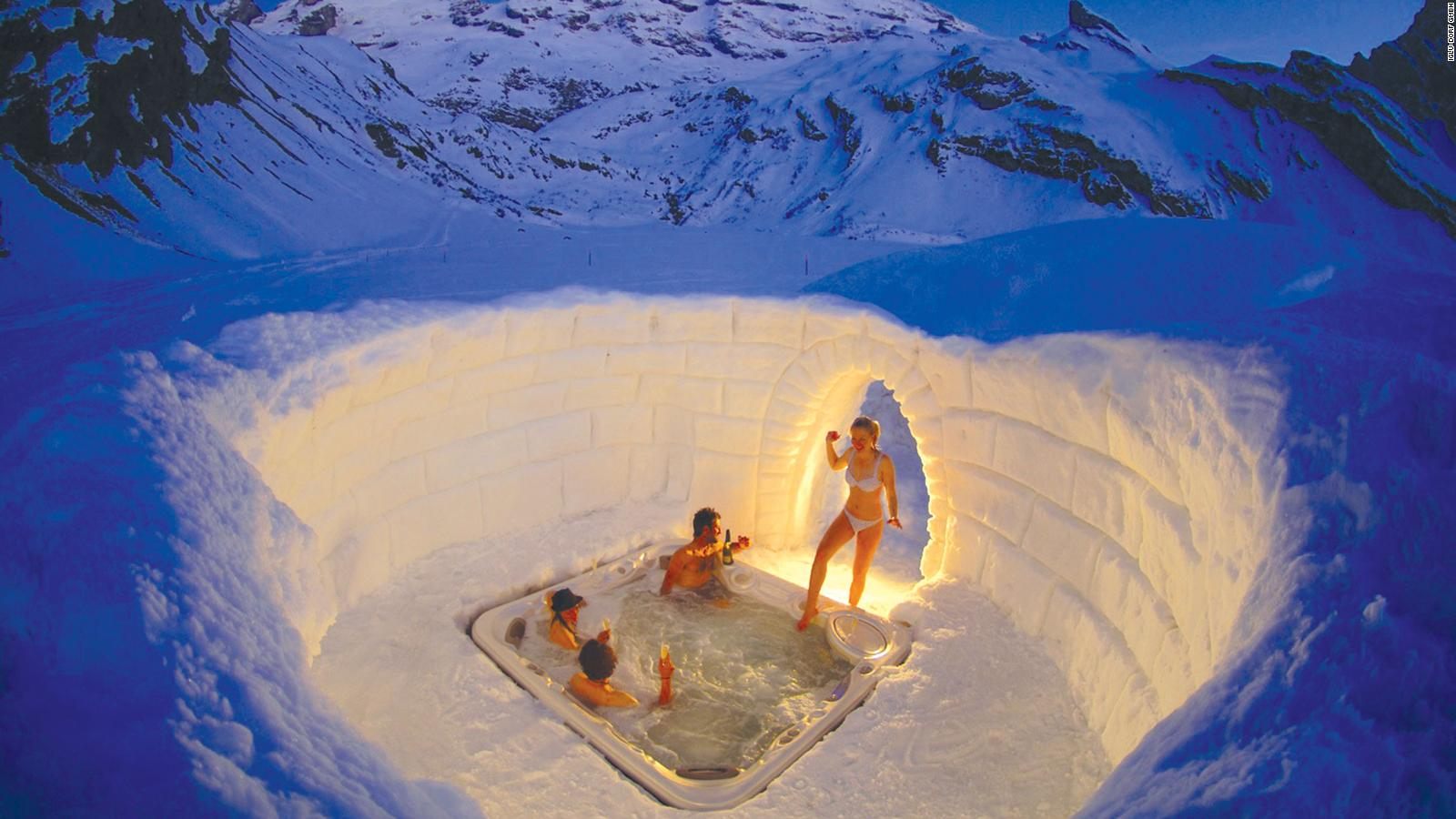 An igloo hotel in Davos: Stay before it melts   CNN Travel