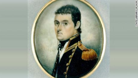 A watercolour miniature portrait British explorer Matthew Flinders, from around 1800.