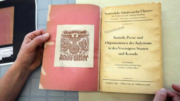 A 1944 Nazi book on North America's Jewish population has been acquired by Canada's national archive.