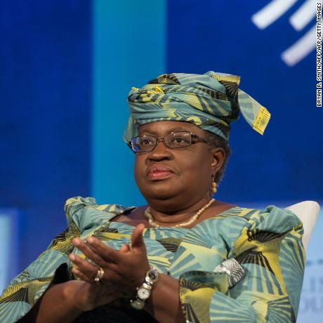 "Former Finance Minster of Nigeria Ngozi Okonjo-Iweala looks on during the Opening Plenary Session: ""Partnering for Global Prosperity,"" at the Clinton Global Initiative on September 19, 2016 in New York. / AFP / Bryan R. Smith        (Photo credit should read BRYAN R. SMITH/AFP/Getty Images)"