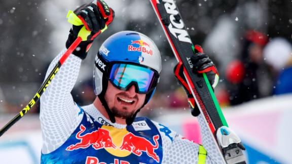 Dominik Paris of Italy won his third downhill title at Kitzbuhel.