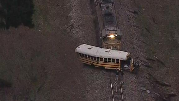 Train and school bus collision in Athens, Texas on Friday, January 25.