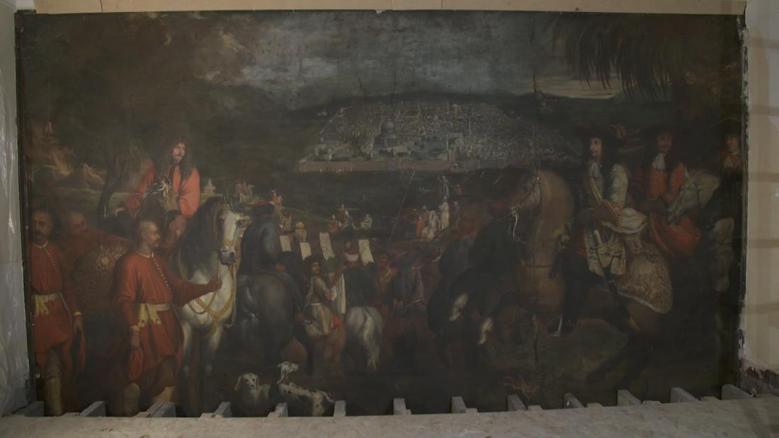 Centuries Old Painting Discovered Behind Wall In Paris Cnn Video