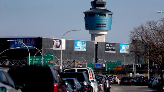 The air traffic control tower at New York