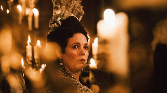 """<strong>""""The Favourite""""</strong>: Olivia Colman stars as Queen Anne, England's ailing, failing ruler whose closest allies take advantage of her weakness to further their political gain. When Anne's right hand, Lady Sarah Churchill, invites her disgraced cousin Abigail to the queen's court, Abigail's charms bring her closer to power, pushing Sarah away from it. <strong>(HBO Now)</strong>"""