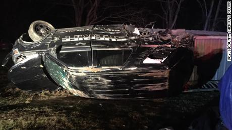Boyle County Sheriff's Office released this image of the damaged vehicle from the crash site.