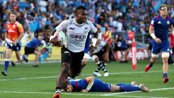 Fiji secured back-to-back victories on the World Series after a thumping 38-0 victory over the USA. Jerry Tuwai crossed twice in the final.