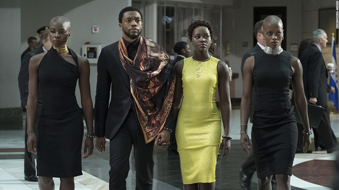 "<strong>Outstanding performance by a cast in a motion picture:</strong> ""Black Panther"""