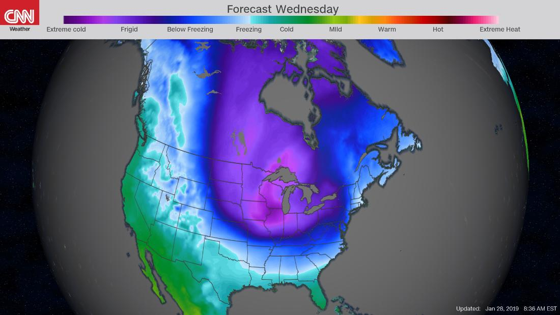 75% of the US population will suffer below-freezing temps this week