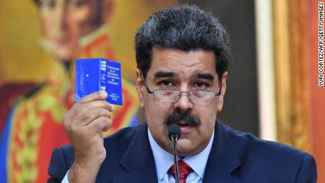 Venezuelan President Nicolas Maduro has refused to bow to international pressure to step down.
