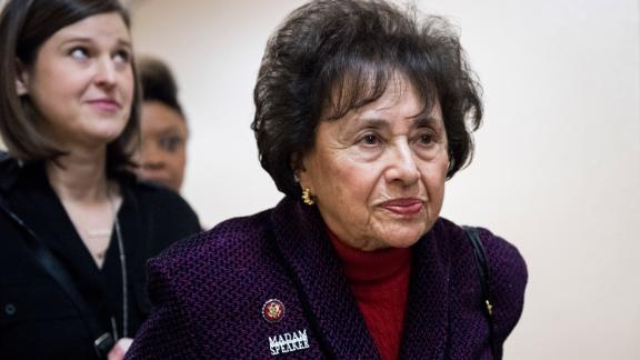 UNITED STATES - JANUARY 4: Rep. Nita Lowey, D-N.Y., leaves the House Democrats' caucus meeting in the Capitol on Friday, Jan. 4, 2019. (Photo By Bill Clark/CQ Roll Call) (CQ Roll Call via AP Images)