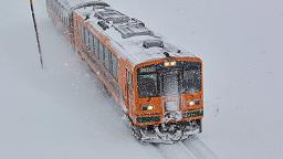 Classic stove train showcases Japan's wintery landscapes