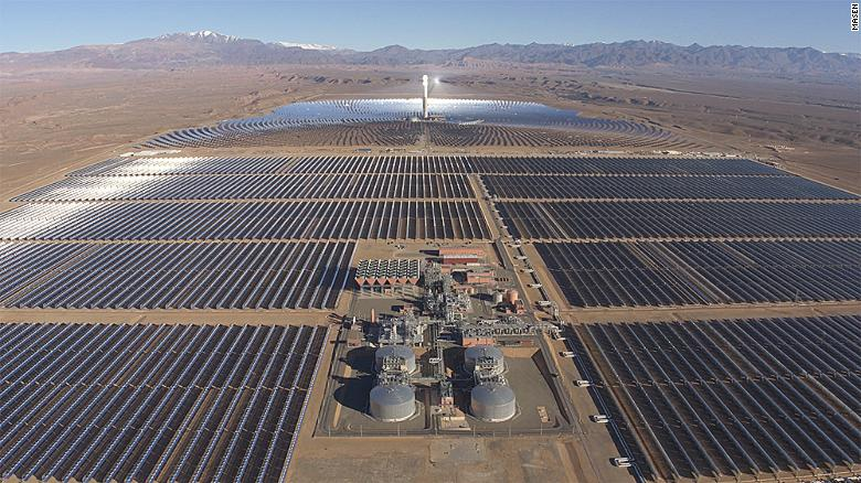 Noor Ouarzazate in Morocco produces enough electricity to power a city the size of Prague.
