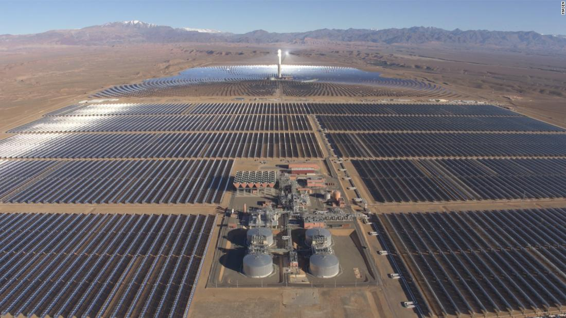 "The Noor-Ouarzazate Solar Power Station in Morocco is the largest concentrated solar power site in the world, producing enough electricity to power a city the size of Prague. Spread across 3,000 hectares -- equivalent to 3,500 soccer pitches -- its<a href=""https://edition.cnn.com/2019/02/06/motorsport/morocco-solar-farm-formula-e-spt-intl/index.html"" target=""_blank""> 580-megawatt</a> output saves the planet from over 760,000 tonnes of carbon emissions annually."