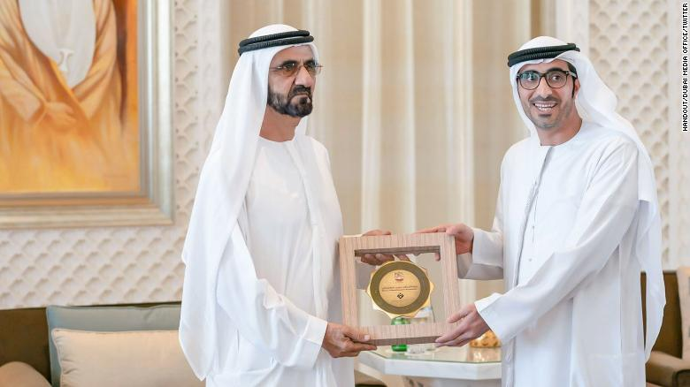 Award for Best Initiative Supporting Gender Balance went to the Ministry of Human Resources and Emiratisation. It's received by government minister Nasser bin Thani Al Hamli.