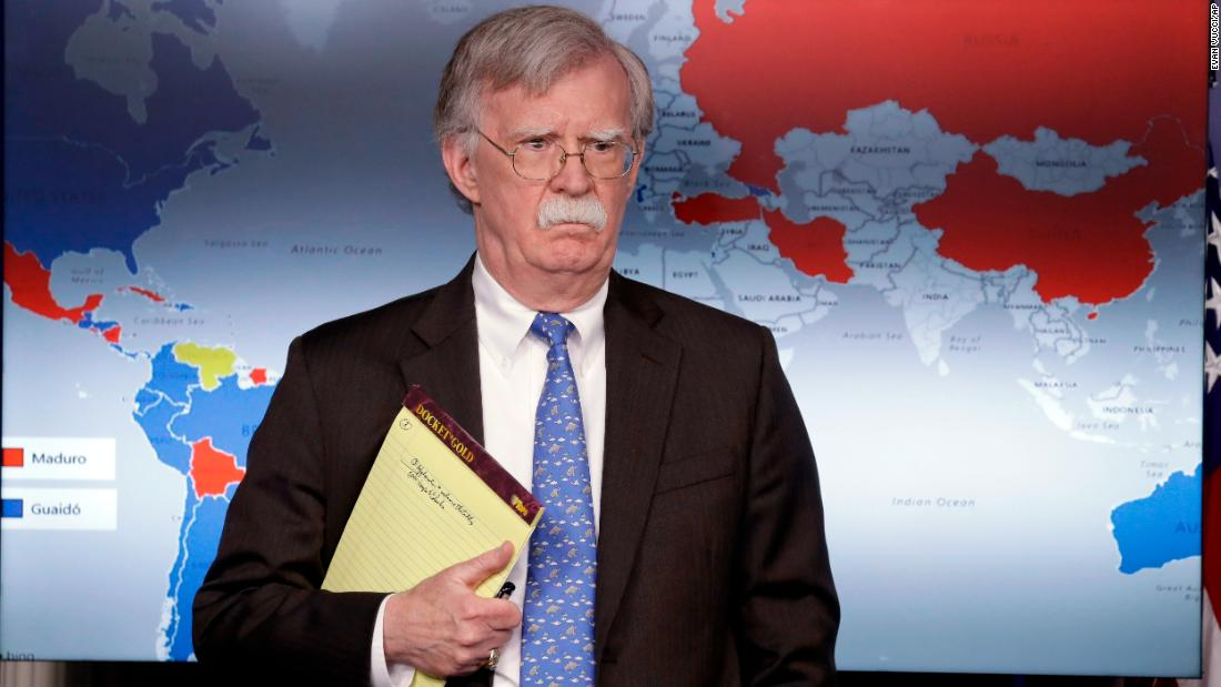 White House not tamping down tensions after Bolton seen holding notepad with words '5000 troops to Colombia'