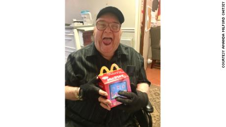 A nursing home resident is overjoyed after Ruby Kate Chitsey and her mom delivered Happy Meals to the home.